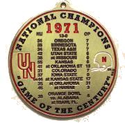 1971 National Champions Ornament