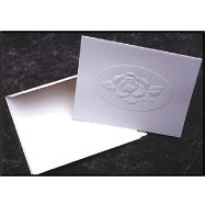 Cards - Rose embossed