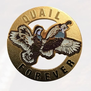 Lapel Pin - Cut out Flying Quail