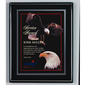 Ebony Finish Plaque with Engraving Plate (4 sizes)