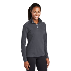 Ladies Textured 1/4-Zip Pullover