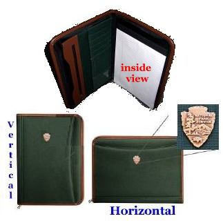 National Park Green Padfolio National Park green padfolio, national park folio, national park notebook, green, national park arrowhead