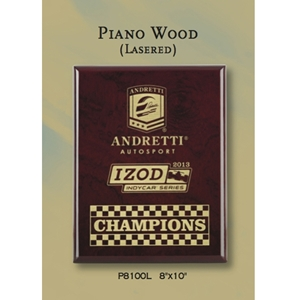Piano Finish Rosewood Plaque - Gold Filled Laser Engraving (4 sizes)