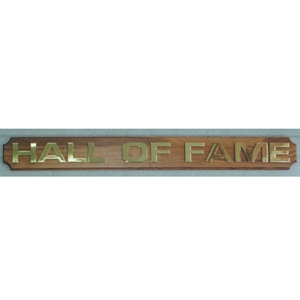 Plaque - Hall of Fame Header