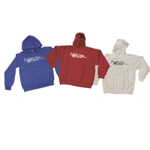 Sweatshirt - Hooded- Blue, Red, or White